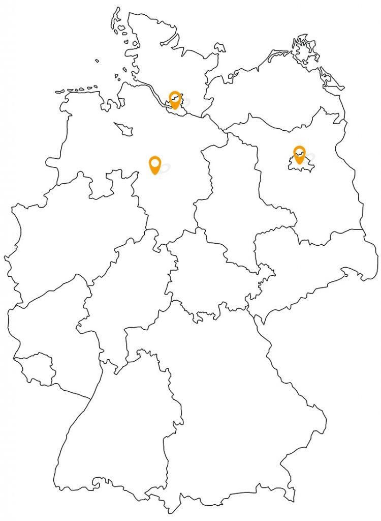 Standorte IAB Regionalgruppen